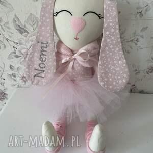 irminka w tiulowej spódniczce z personalizacją, króliczek, maskotka, zabawka