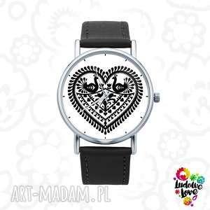 zegarek z grafiką kocham kurpie, polski, folklor, ludowe, modne, dodatki, prezent