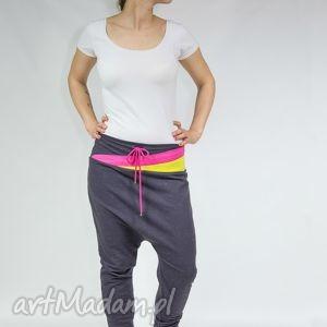 spodnie alison - dres czekoladowe trójkąty, taniec, yoga, bawełna, wygodne