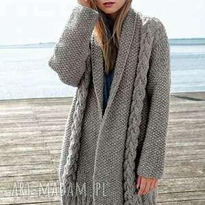 swetry sweter płaszcz york, sweter, płaszcz, wełniany, dziergany, luksusowy