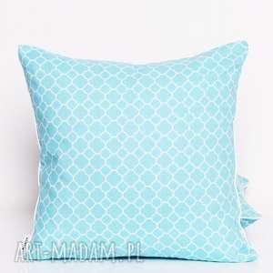 poduszka little fresh turquoise 40x40cm od majunto, poduszka, ozdobna-poduszka