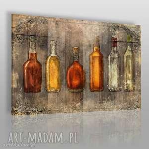 vaku dsgn obraz na płótnie - butelki vintage 120x80 cm 57601, butelki, retro