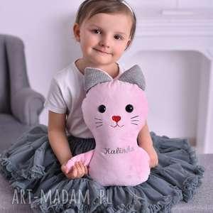 ręczne wykonanie maskotki przytulanka dziecięca kotek z imieniem