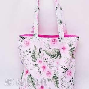 torba na zakupy shopperka ekologiczna zakupowa ramię bawełna dzikie kwiaty
