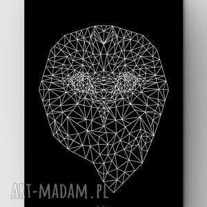 sowa black a3, plakat, grafika, dom, sowa, sówka, owl