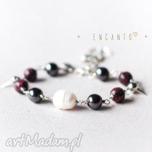 *Pirate pearl*, kamienie, naturalne, perły, zawieszka, kotwica, glam
