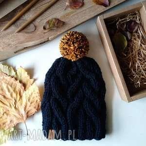 ciepła czapka, na głowę, drutach, ciepła, wełniana