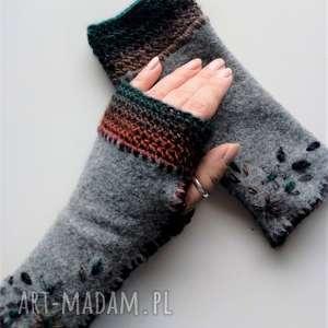 wyjątkowe prezenty, rękawiczki mitenki, rękawiczki, jesienne, wełniane