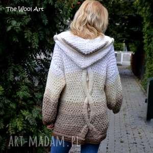 big sweter, kardigan, z-wełny, na-dutach