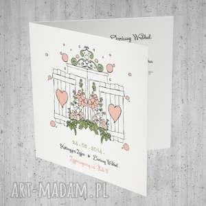 Ślubne Zaproszenia z okiennicami... 10 szt., pastelowe, ślubne, ślub, zaproszenia