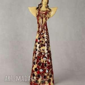 anioł ceramiczny lampion, ceramiczny, ręcznie wykonany