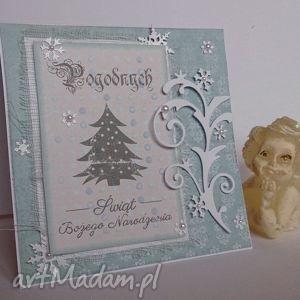 kartka świąteczna bluebell chandlery - turkusowe kartki, życzenia