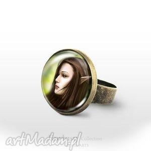 pierścionek - elf antyczny brąz