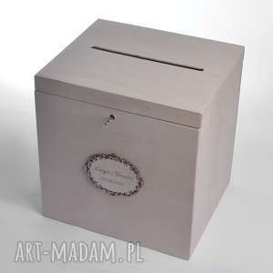 duże ślubne pudełko na koperty personalizowane, pudełka koperty, styl