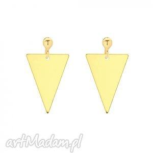 ręcznie wykonane kolczyki złote kolczyki z trójkątami