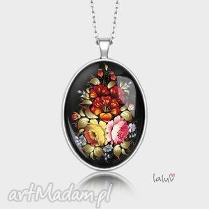 medalion owalny kwiecisty - kwiaty, kwiatki, łaka, wiosna, bukiet, prezent