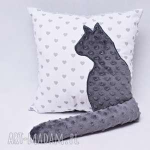uszyciuch poduszka z kotem i ogonem 3d serduszka, poduszka, kotek, kot, ogon