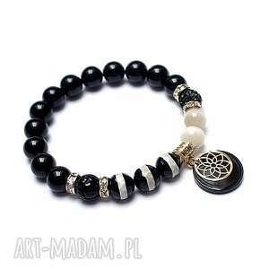 kolekcja rich - black and ivory /14 12 20/, kamienie, minerały, żywica, ki ka