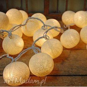 Qule Cotton Balls Light Kremowa Poświata 20 kul, oświetlenie, sali, weselnej, lampki
