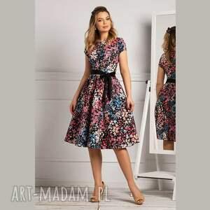 sukienka marie midi miranda, midi, rozkloszowana sukienki