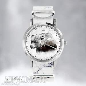 zegarki zegarek - niedźwiedź marmurkowy, nato, zegarek, bransoletka, las