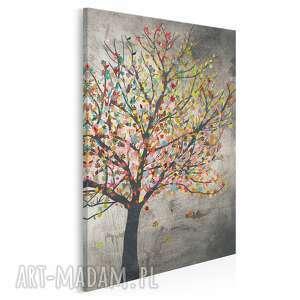 Obraz na płótnie - drzewo liście w pionie 50x70 cm 30606 vaku