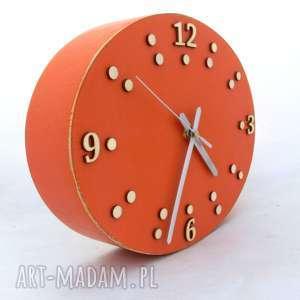 Prezent Zegar ścienny drewniany - szerokość 30,5 cm, kuchnia