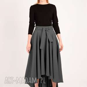 długa spódnica z koła maksi ciemny szary, maksi, maxi, długa, dokostek, elegancka