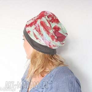 czapka handmade szyta z rozciągliwej bawełny, czapka, etno, boho, kolorowa, bawełna,