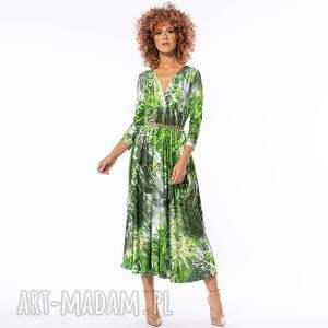 sukienki amelia - dżungla rozkloszowana sukienka