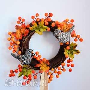 handmade dekoracje wianek jesienny z ptaszkami