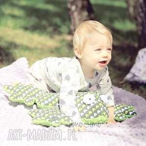 poduszka sensoryczna dla dzieci żaba gabriela zielone serduszka, sensoryka