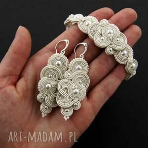 hand-made ślub komplet ślubny mirino pearl soutache