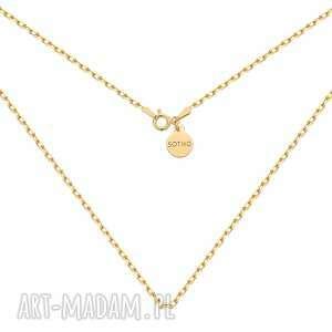sotho złoty masywny łańcuszek - złote naszyjniki łancuch