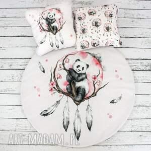 hand-made dla dziecka panda boho mata do zabawy oraz dwie poduszki