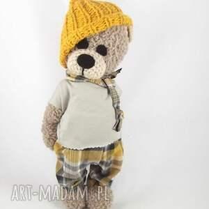 hand-made zabawki leoś - szydełkowy miś, personalizacja