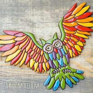 ceramika dekor na ścianę sowa, dekor, ścianę, zwierzęta, energetyczne
