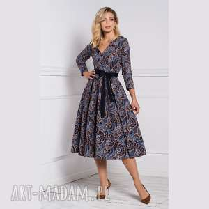 sukienki sukienka laura midi andrea, na jesień, jesienna