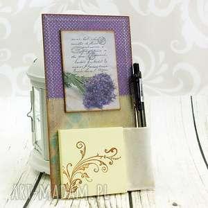notes na lodówkę- lawendowy bukiet, lawenda, kwiaty, polne, magnes, zapiśnik