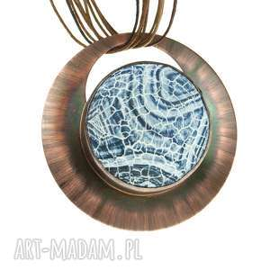 handmade naszyjniki agatowe krajobrazy naszyjnik z miedzi c613