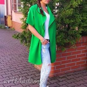ręcznie robione kamizelki płaszczyk narzutka cashmere - verde