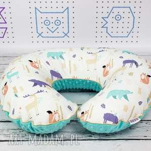 dla dziecka poszewka na poduszkę rogal boppy leśne zwierzęta mycolors