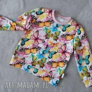 Bluza dziewczęca w motyle lilla motyle, rozmiar 86,