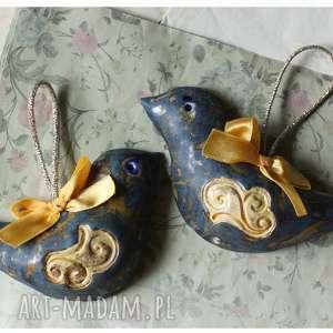 Para granatowych ptaszków ceramika wylegarnia pomyslow ceramika