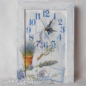zegary zegar lawenda, zegar, decoupage, prowensalia dom, święta prezent