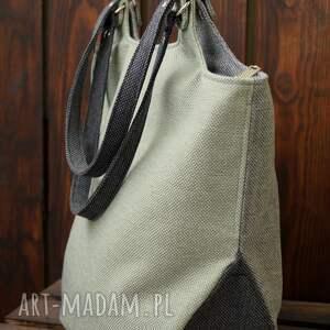 na ramię trójkolorowa torba ramię, shopperka, codzienna torba, prezent