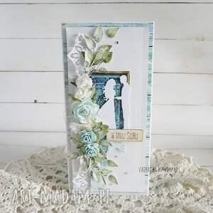 scrapbooking kartki kartka ślubna w pudełku, 858, ślub, wesele, prezent ślubny