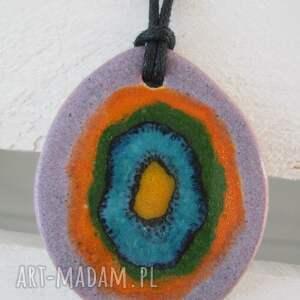 wisiorki kolorowy zawrót głowy, etniczny, wisiorek, ceramiczny, wisior, indyjski