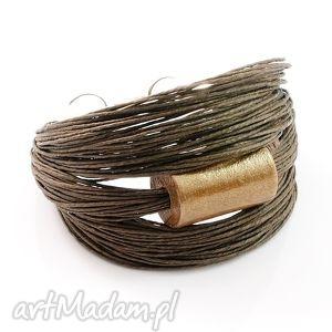 Bransoletka lniana Gudiv - Len, len, drewno, malowane, ręcznie