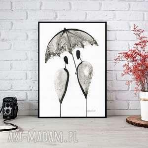 ręcznie malowany, abstrakcja, minimalizm, abstrakcja czarno-biała, ilustracja, plakat